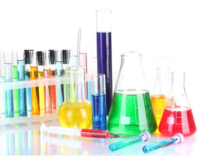 Algumas vidrarias de laboratório