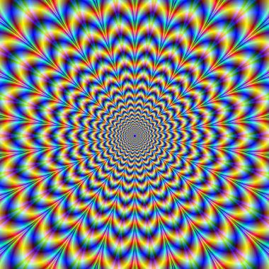 A ilusão de ótica ocorre quando um desenho nos dá a sensação de ser tridimensional