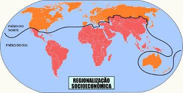 A Regionalização socioeconômica do mundo classifica os países com base no desenvolvimento econômico e na qualidade de vida de sua população