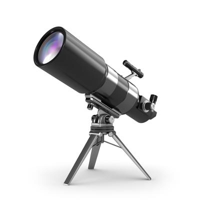 O telescópio é um instrumento óptico que permite a observação de objetos grandes a longas distâncias