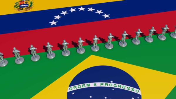 O Brasil recebe um intenso fluxo migratório de venezuelanos, motivado pela crise que assolou a Venezuela.