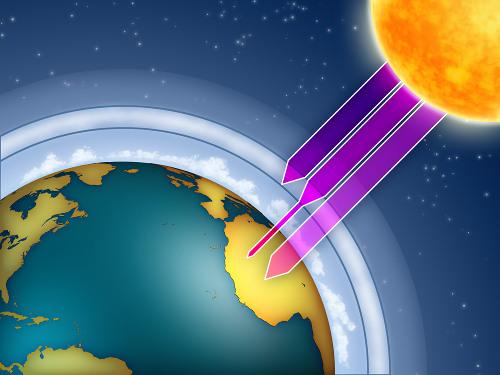 A camada de ozônio protege o planeta Terra da incidência excessiva dos raios ultravioleta