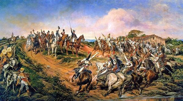 Acima, quadro de Pedro Américo retratando a Independência do Brasil.