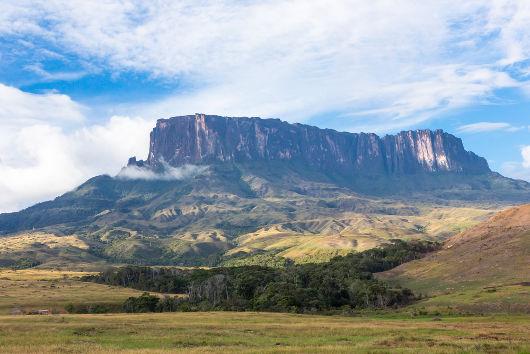 Monte Roraima, na tríplice fronteira entre Brasil, Venezuela e Guianas