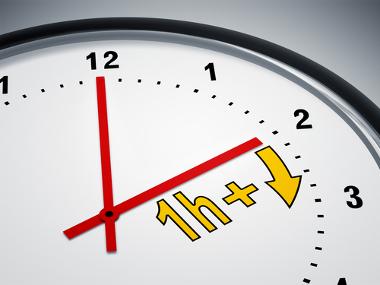 4912e264 Durante o horário de verão, os relógios são adiantados em uma hora.