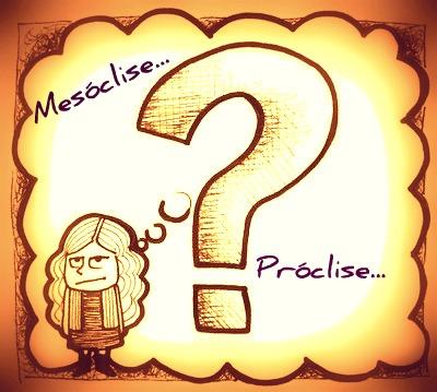 O uso da próclise e da mesóclise está relacionado a fatores específicos, tendo em vista os pressupostos gramaticais