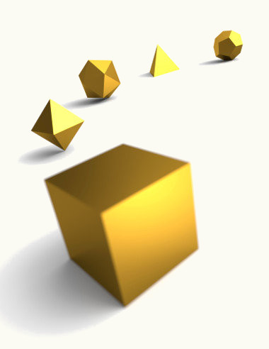 Para calcular o volume dos sólidos geométricos, é preciso saber a sua altura, largura e comprimento