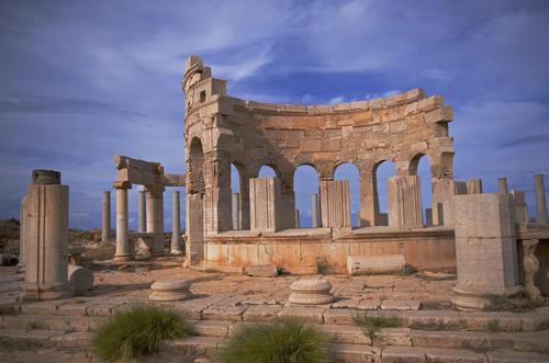 Ruínas da civilização fenícia no norte da África, atual Líbia