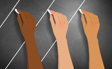 Os ângulos alternos internos e externos podem ser construídos em um feixe de retas paralelas