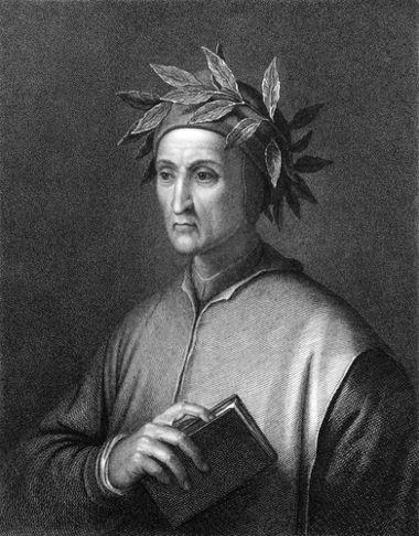 Na imagem, Dante Alighieri. A obra A Comédia desse autor é um exemplo de como os intelectuais da Idade Média percebiam o desenrolar da História