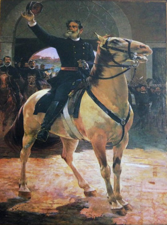 Marechal Deodoro da Fonseca na ocasião da Proclamação da República