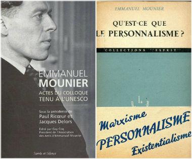 """Capas dos livros """"Emmanuel Mounier – Actes du colloque tenu à l'Unesco"""" da editora Parole et Silence e """"Qu'est-ce que le Personnalisme?"""""""