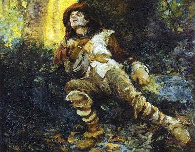 Acima, imagem do bandeirante Fernão Dias Paes morto