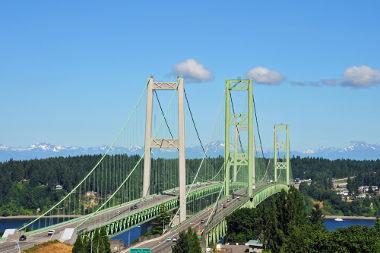 Nova ponte em Tacoma Narrows, Washington – EUA