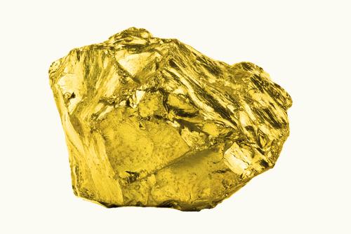 A maleabilidade do ouro permite que ele tenha sua forma natural modificada