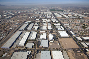 Zona industrial localizada na região sudoeste dos Estados Unidos